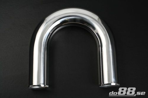 Aluminium pipe 180 degree 3'' (76mm) in the group Aluminium Pipes / 2mm wall thickness, Polished / 180 degree at do88 AB (AB180G77)