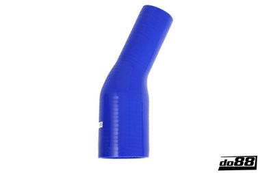 Silicone Hose Blue 25 degree 2,375 - 3'' (60 - 76mm)
