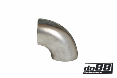 Exhaust pipe steel short elbow 90 degree 2,5'' (63mm)