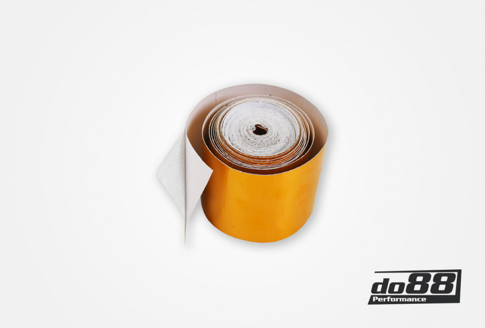 Heat insulating tape gold 50mm, 5m roll
