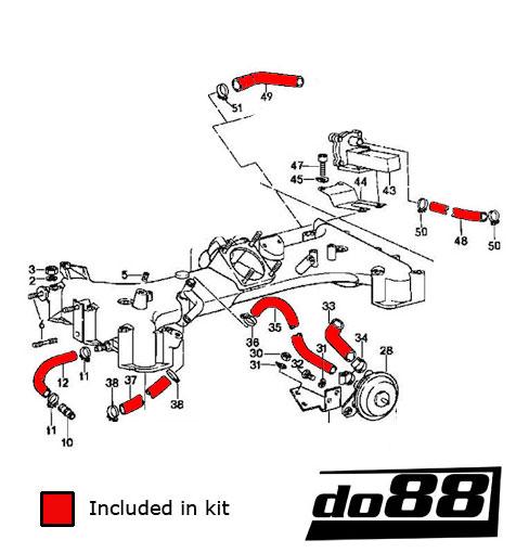 porsche 930 turbo k jetronic hoses