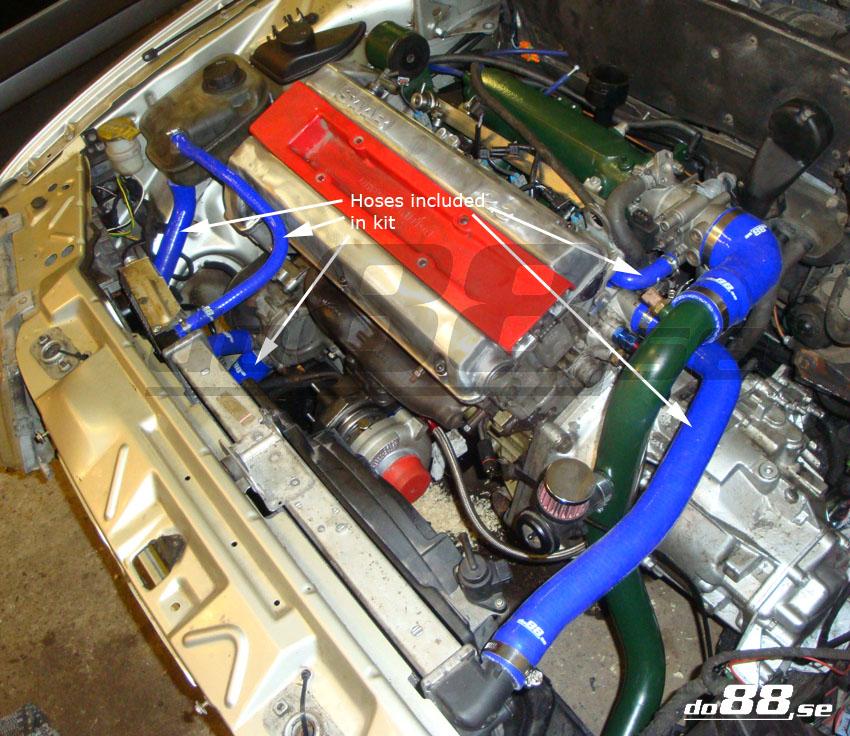 saab 9000 turbo 94-98 coolant hoses
