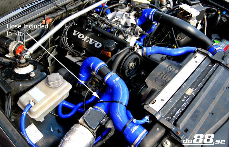 Volvo 740/940 Turbo 90-98 Intake hose | 740 (85-91), 940 withou