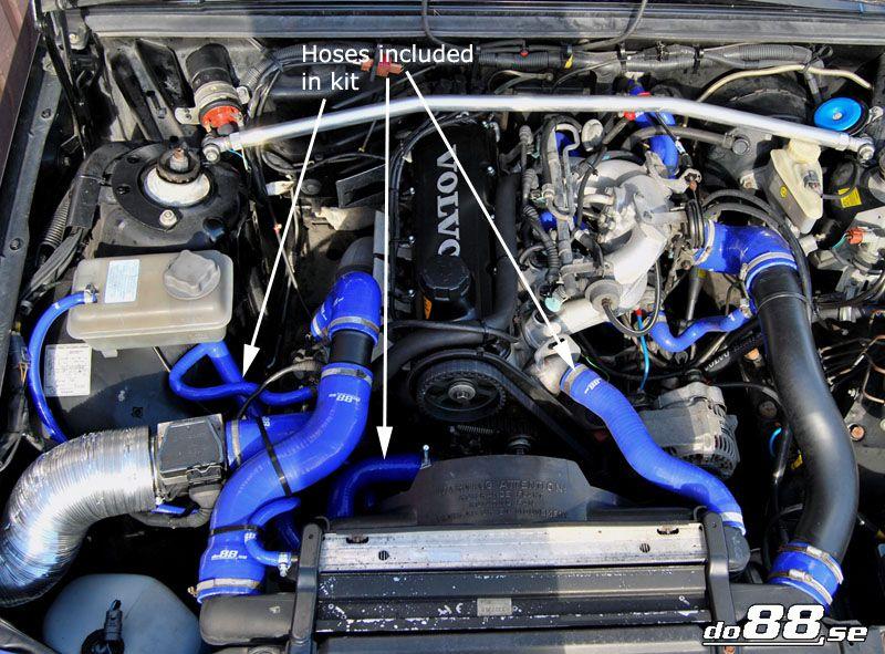 Volvo 700/940 Turbo Coolant hoses | 740 (85-91), 940 ...